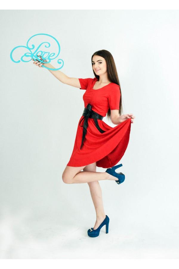 """Платье """"Маша"""" красное"""