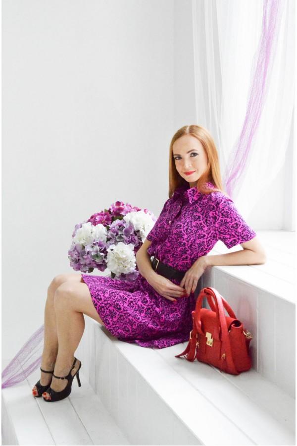 "Платье ""Даша"" фуксия"