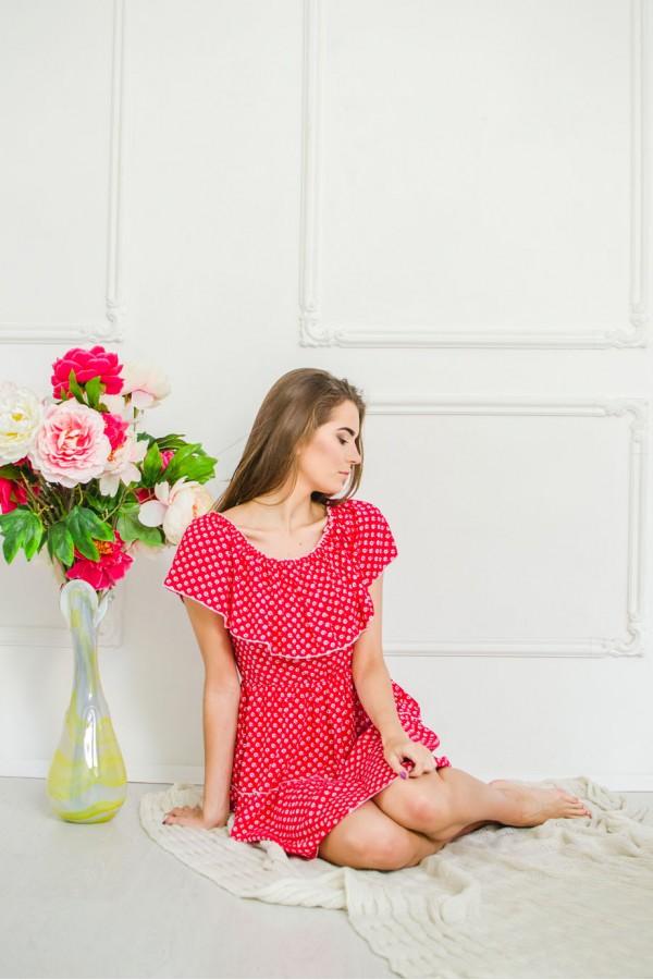 "Платье ""Кармелита"" красное"