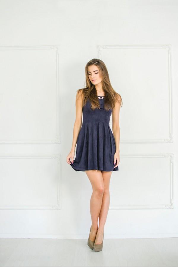 """Платье """"Оля"""" темно-синее"""