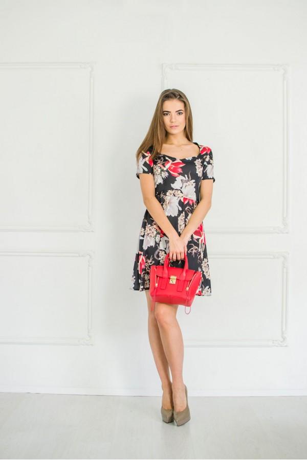 """Платье """"Оксана"""" черное"""