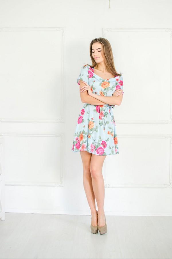 """Платье """"Оксана"""" голубое"""