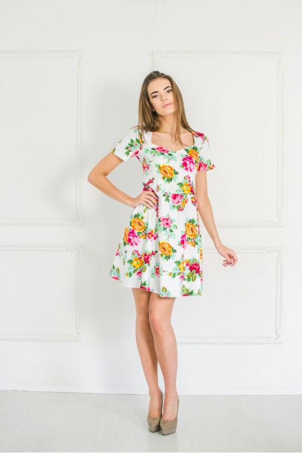 """Платье """"Оксана"""" белое"""