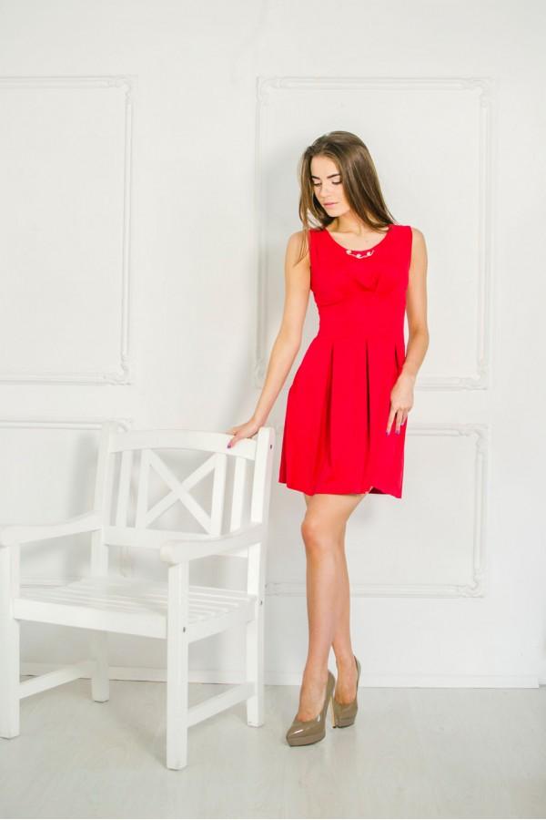 """Платье """"Оля"""" красное"""