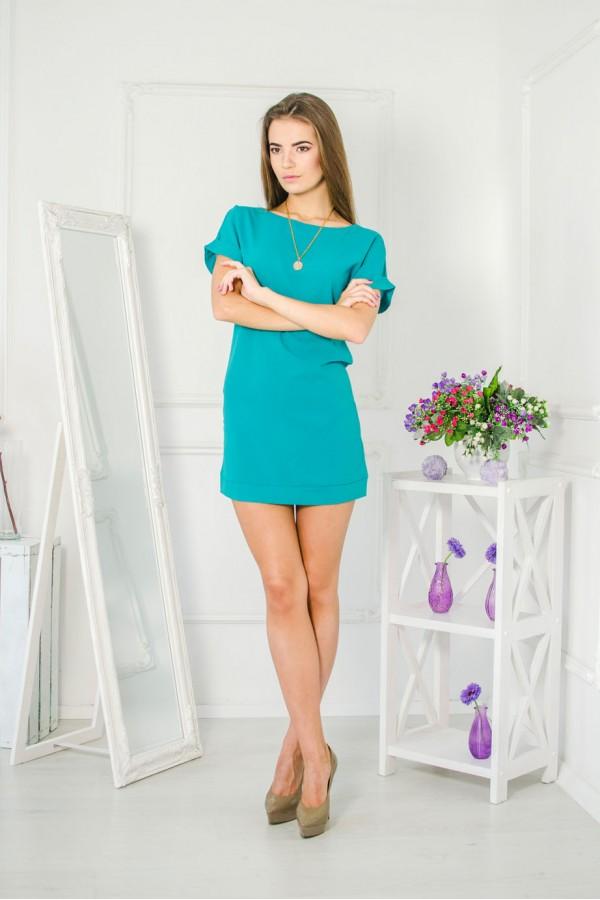 """Платье """"Жанна"""" бирюзовое"""