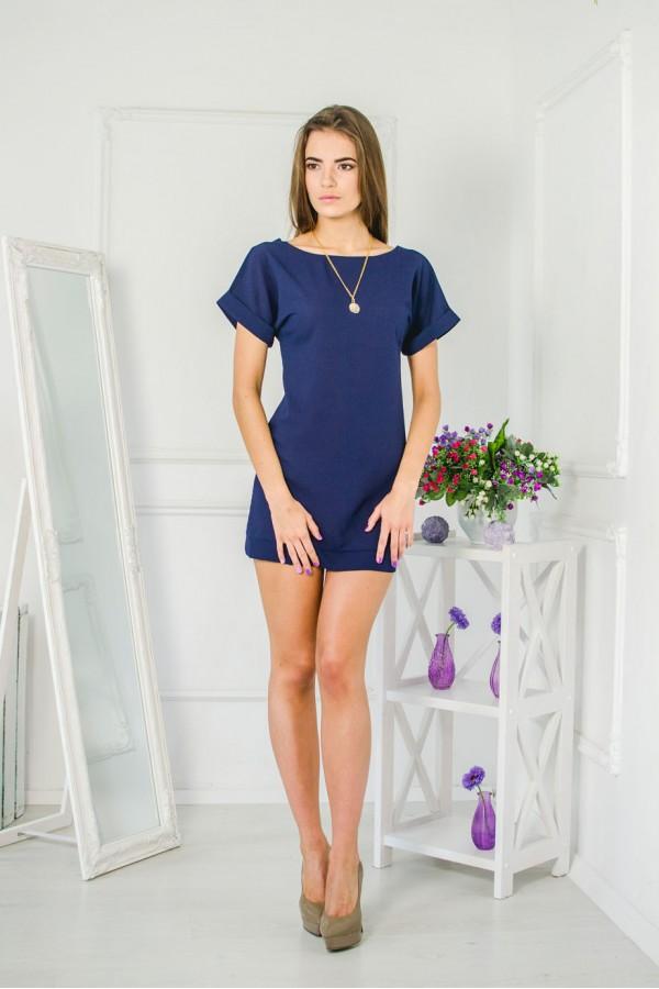 """Платье """"Жанна"""" темно-синее"""