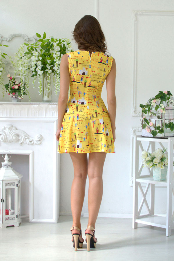 """Платье """"Гуччи"""" желтое"""