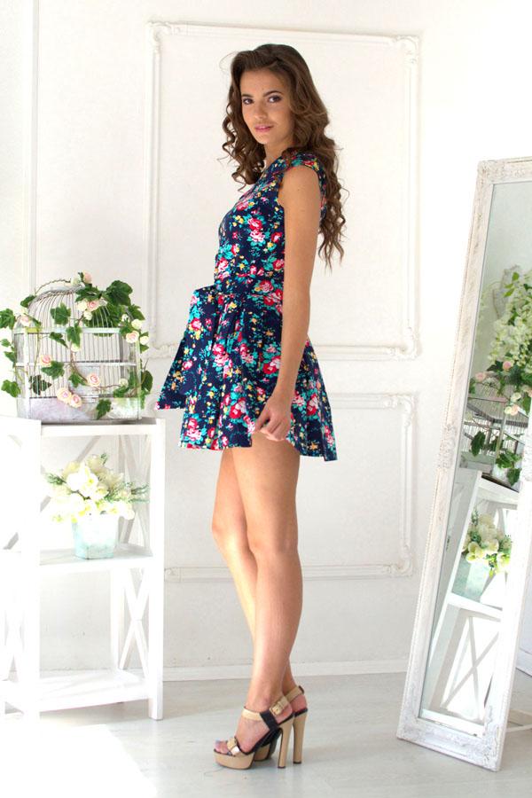 "Платье ""Каролина"" темно-синее"