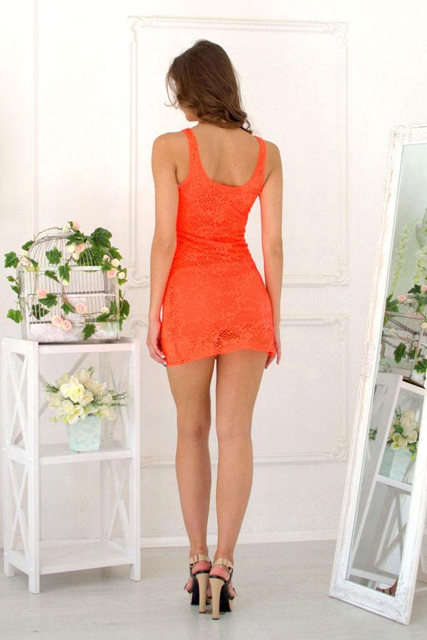 """Платье """"Майя"""" оранжевое"""