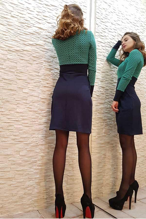 """Платье """"Нелли"""" бирюза"""