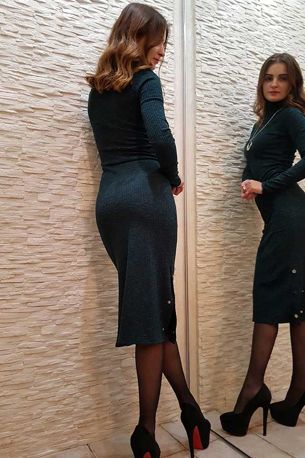 "Платье ""Кнопка"" темно-бирюзовое"