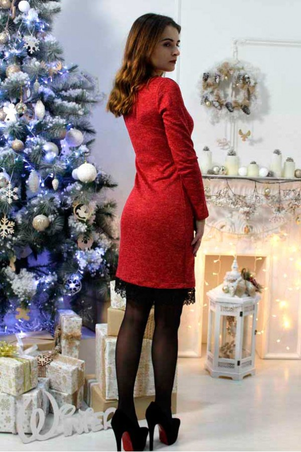 "Платье ""Ангелина"" красное"