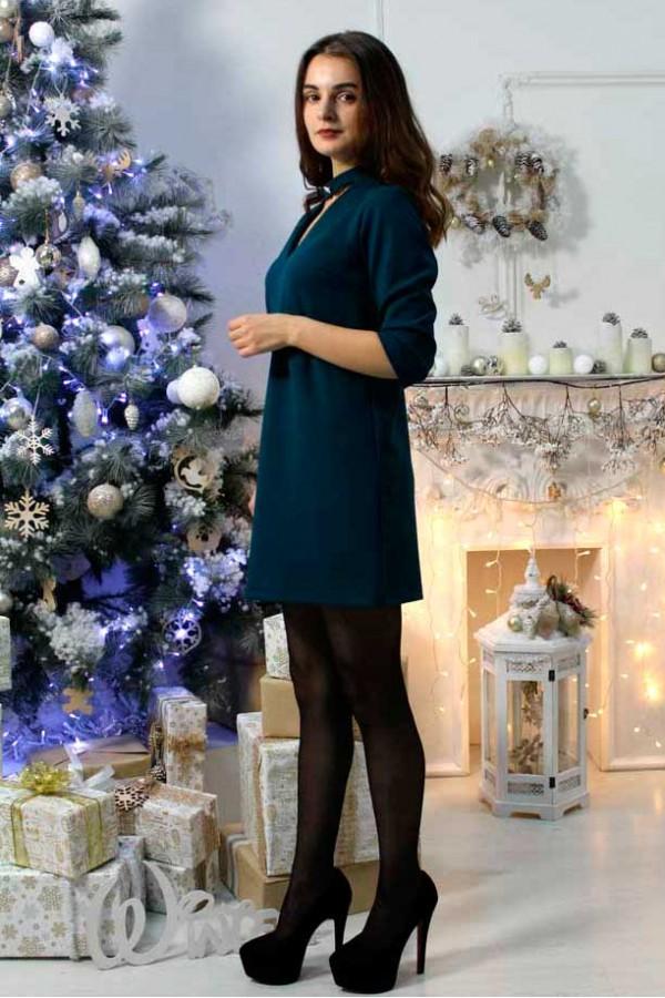 """Платье """"Анжела"""" темно-бирюзовое"""
