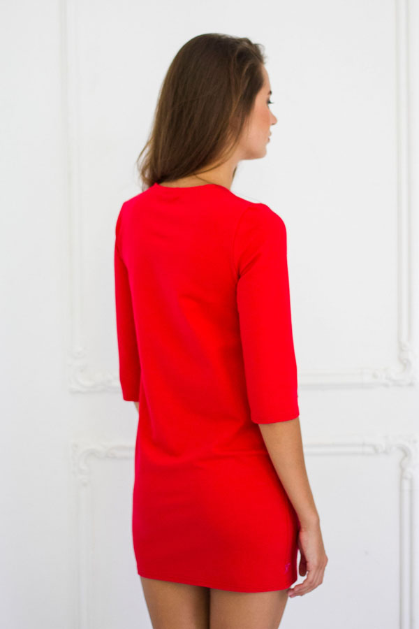 """Платье """"Шанель"""" красное"""