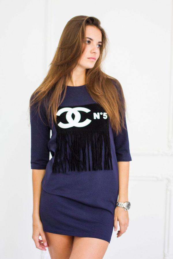"""Платье """"Шанель"""" синее"""