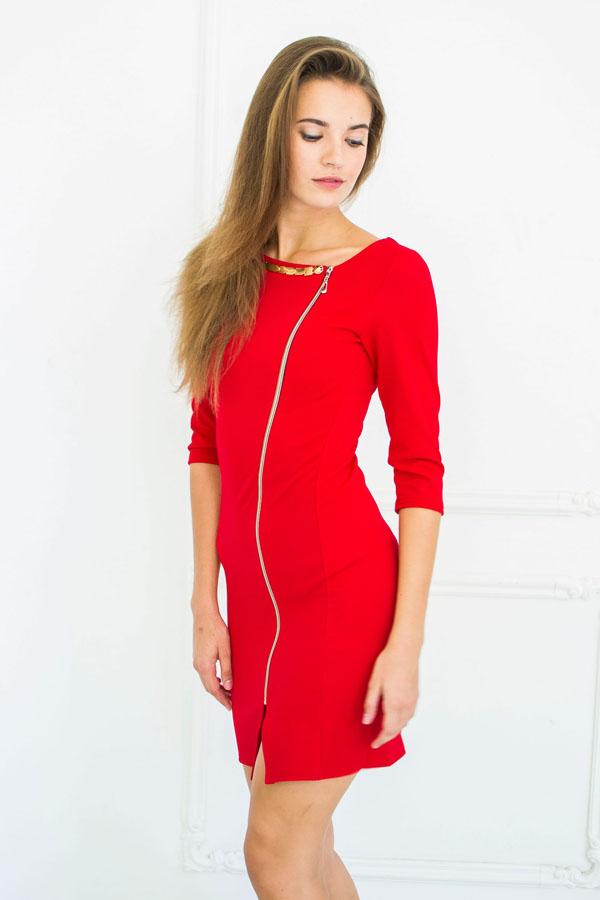 """Платье """"Фая"""" красное"""