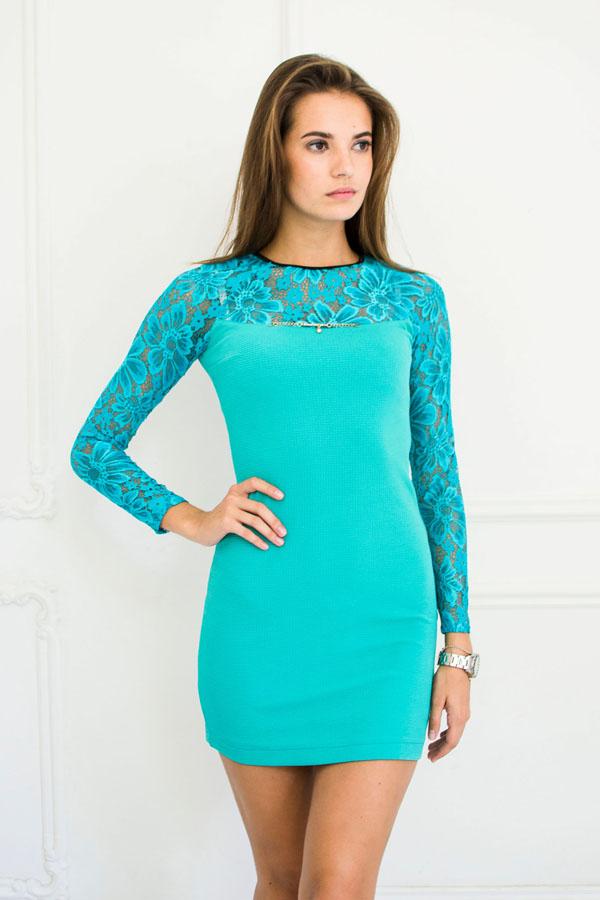 """Платье """"Варя"""" бирюзовое"""
