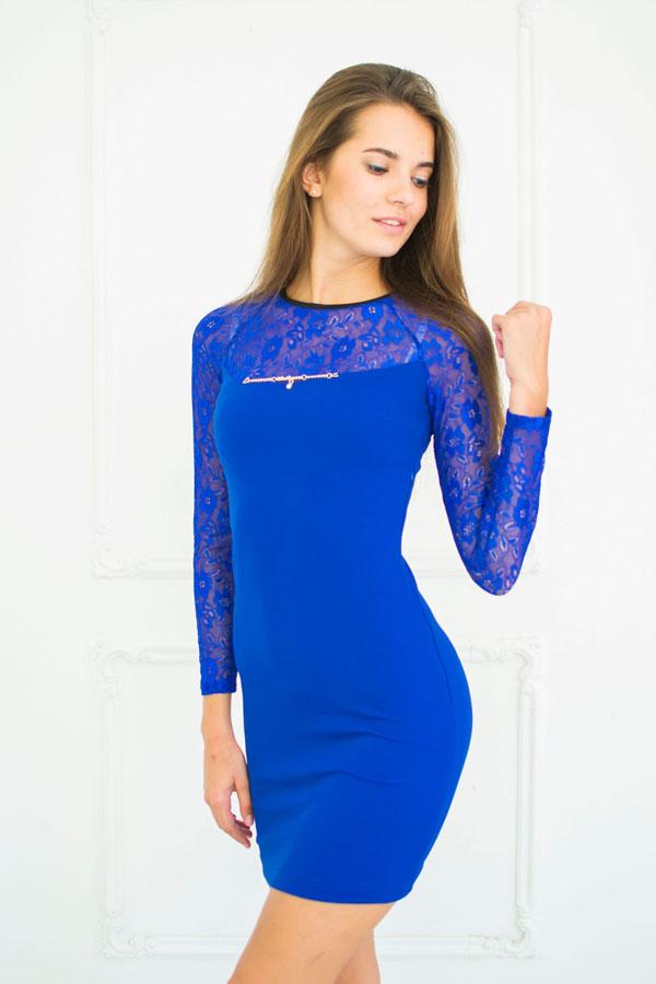 """Платье """"Варя"""" электрик"""