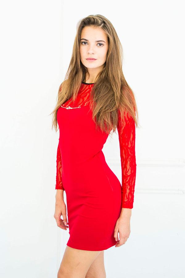 """Платье """"Варя"""" красное"""