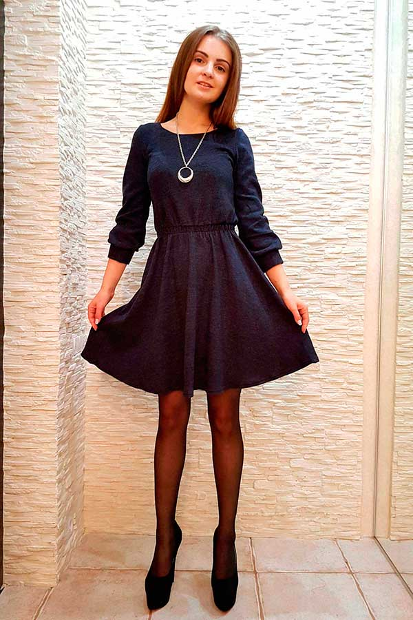"Платье ""Люба"" темно-синее"
