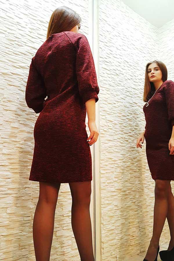 """Платье """"Рио"""" темно-красное"""