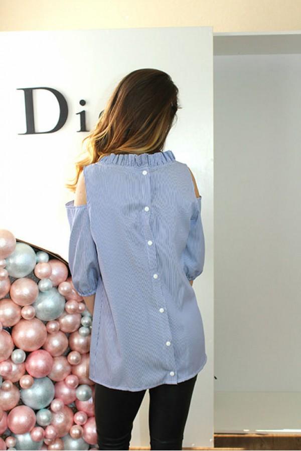 "Блуза ""Кнопка"" голубая"