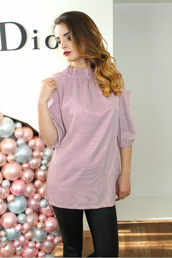 """Блуза """"Кнопка"""" розовая"""