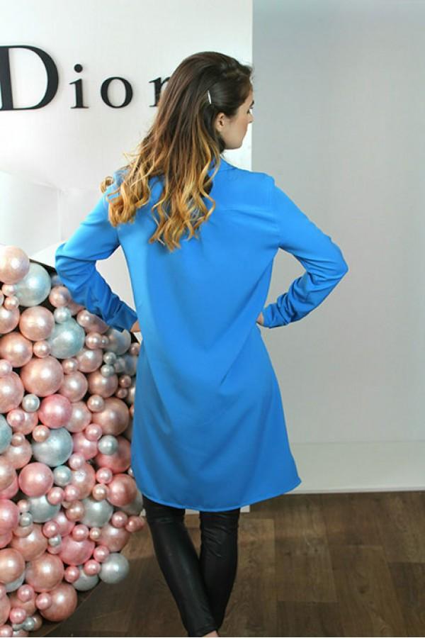 """Платье-рубашка """"Мия"""" голубое"""