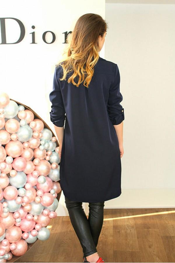 """Платье-рубашка """"Мия"""" темно-синее"""