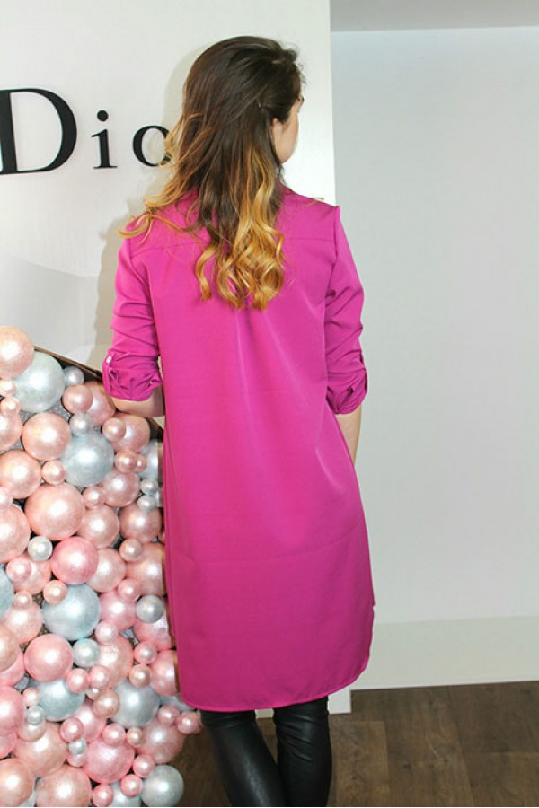 """Платье-рубашка """"Мия"""" фуксия"""