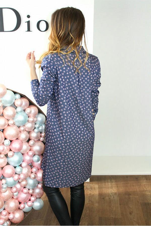 """Платье-рубашка """"Мия"""" джинсовое"""