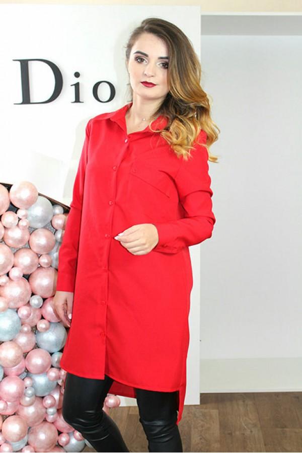 """Платье-рубашка """"Мия"""" красное"""