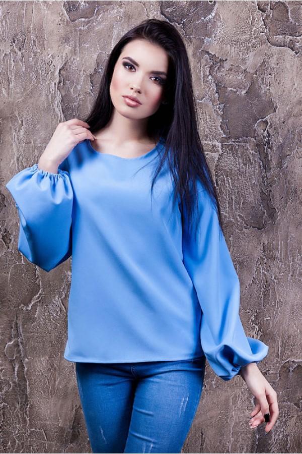 """Блуза """"Вика"""" голубая"""