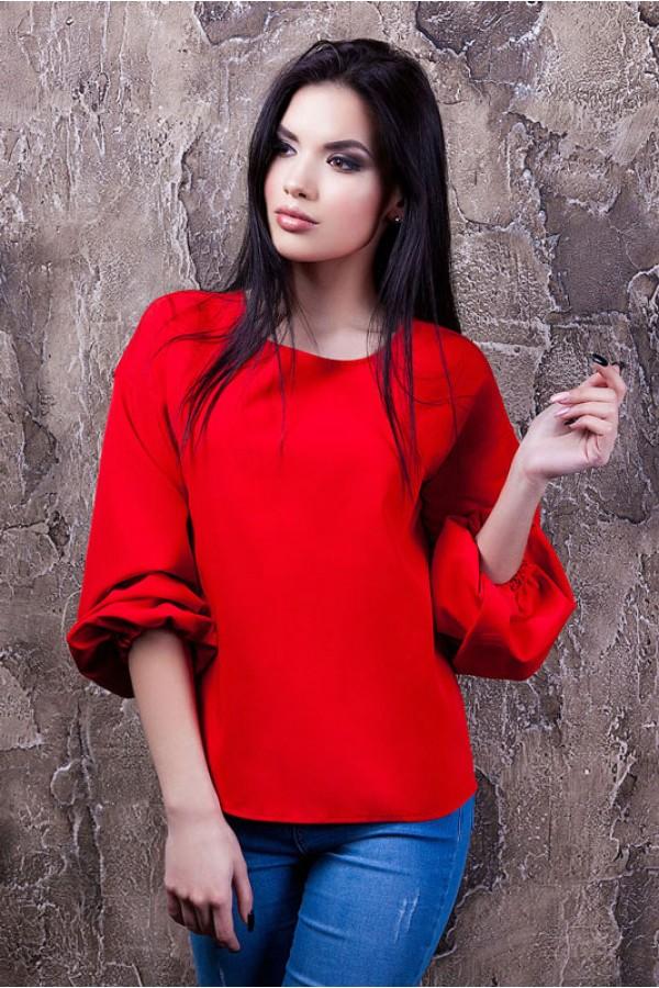 """Блуза """"Вика"""" красная"""