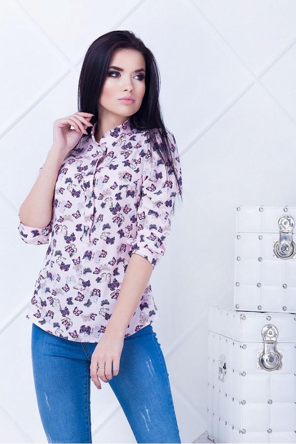 Рубашка женская Дольче2 розовая