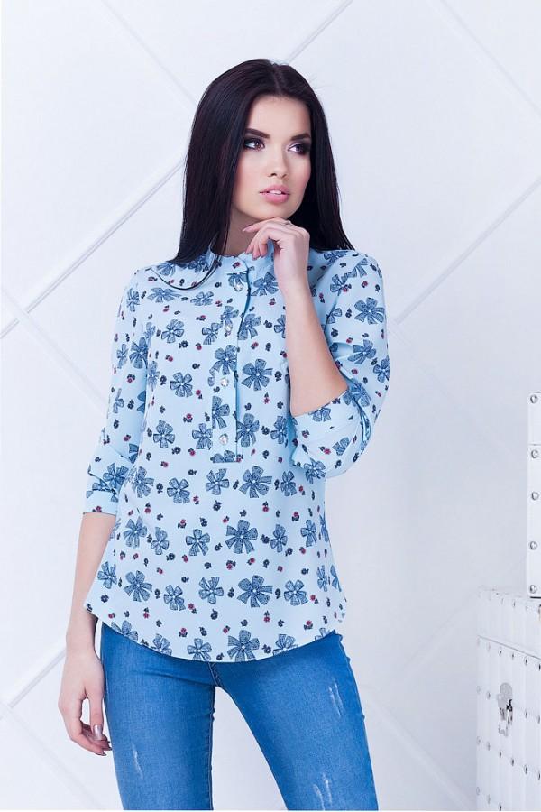 Рубашка женская Дольче2 голубая