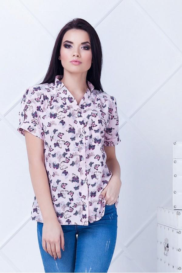 Рубашка женская Алекса розовая