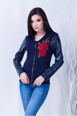 Бомбер женский Роза темно-синий