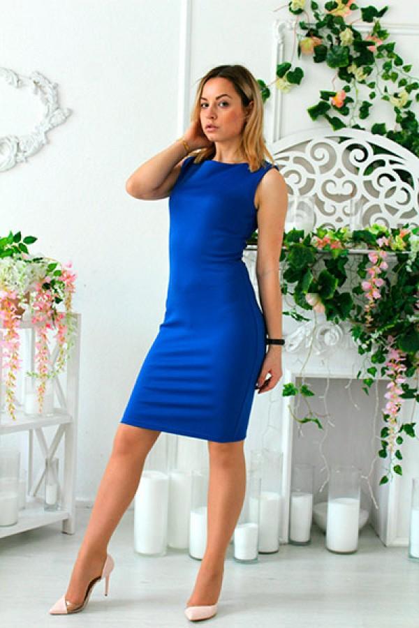 """Платье """"Кира"""" синее"""