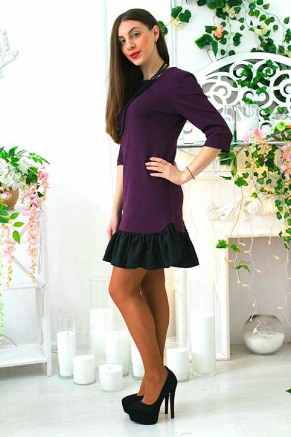 """Платье """"Элина"""" фиолетовое"""