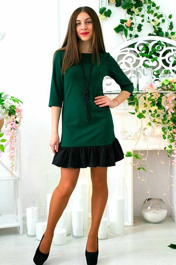 """Платье """"Элина"""" зеленое"""