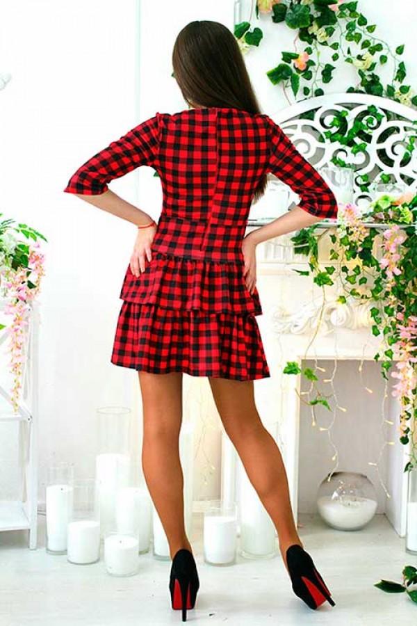 """Платье """"Камила"""" красное"""