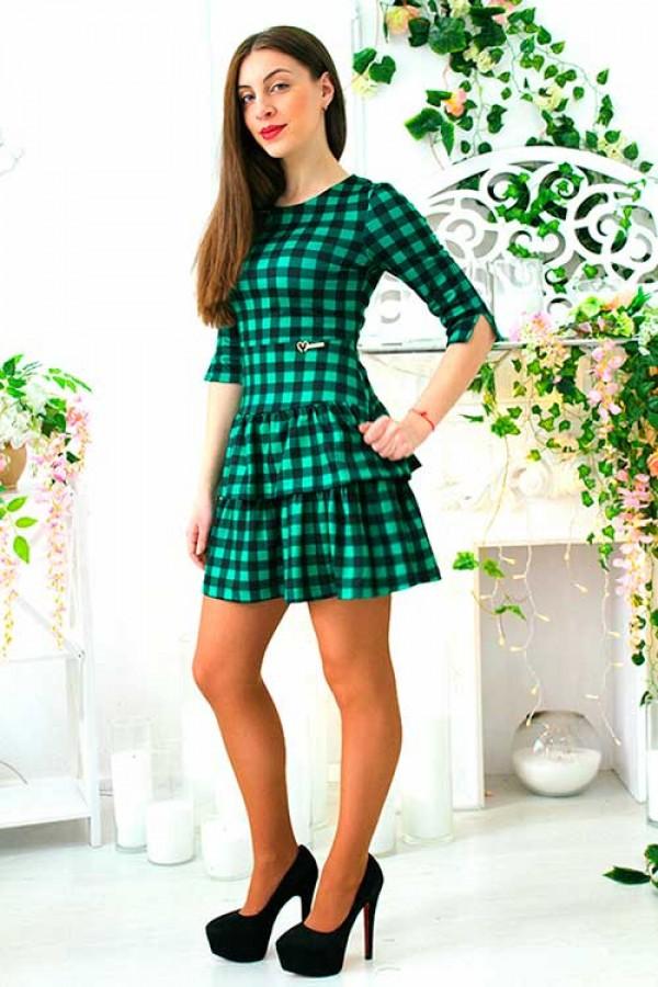 """Платье """"Камила"""" зеленое"""