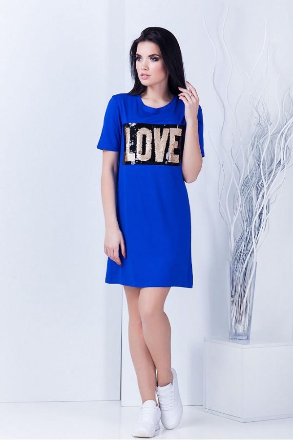 "Платье ""Love"" синее"