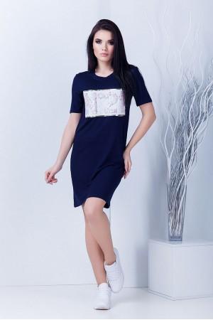 """Платье """"№21"""" темно-синее"""