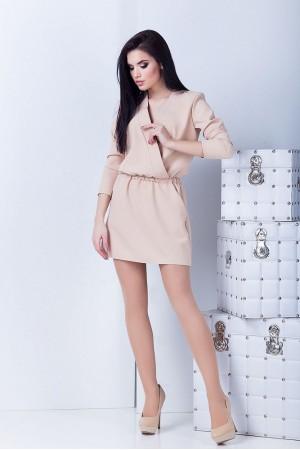 Платье Юля бежевое