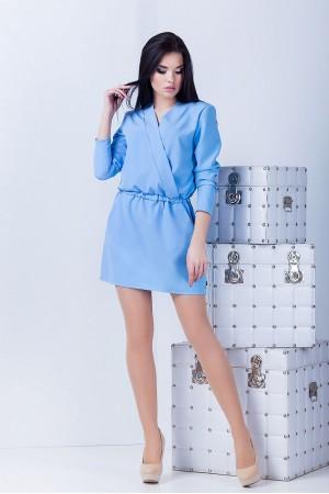 Платье Юля голубое
