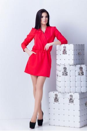 Платье Юля красное
