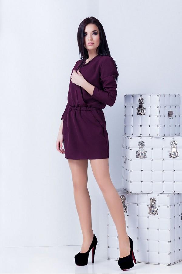 Платье Юля марсаловое